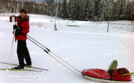 Ski og pulk